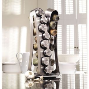 16-Jar Revolving Spice Rack with Free Spice Refills for 5 Years 5084915
