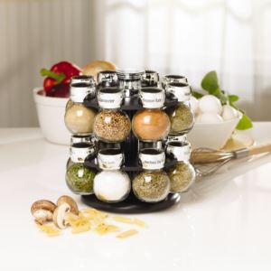 16-Jar Revolving Spice Rack with Spice Refills for 5 Years 5123721
