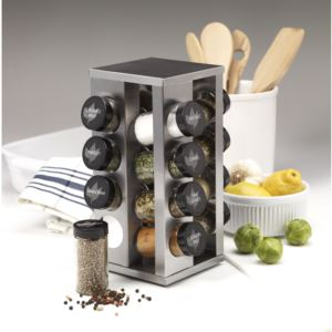 16-Jar Revolving Countertop Spice Rack with Free Spice Refills for 5 Years 5084920