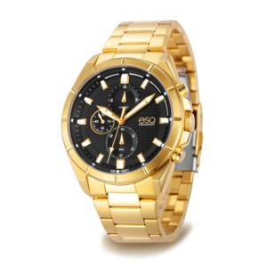 Men's Gold-tone Chronograph Watch 37ESQ013101A