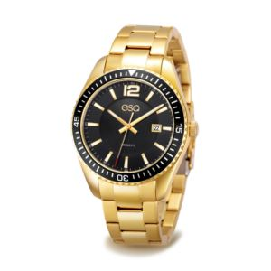 Men's Gold-tone Stainless Steel Bracelet Watch 37ESQ016101A