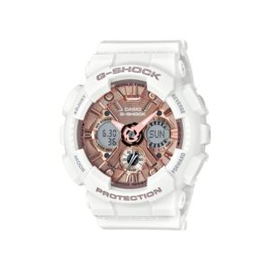 Women's G-Shock Watch - White/Rose Gold GMAS120MF-7A2