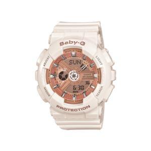 Women's Baby-G Watch - White/Rose Gold BA110-7A1