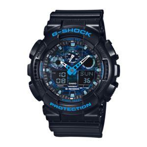 Men's G-Shock Watch - Black/Cool Blue GA100CB-1A