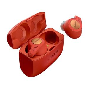 Jabra Active Elite 65T Alexa Enabled True Wireless Earbuds Charging Case-Copper Red 100-99010001-02