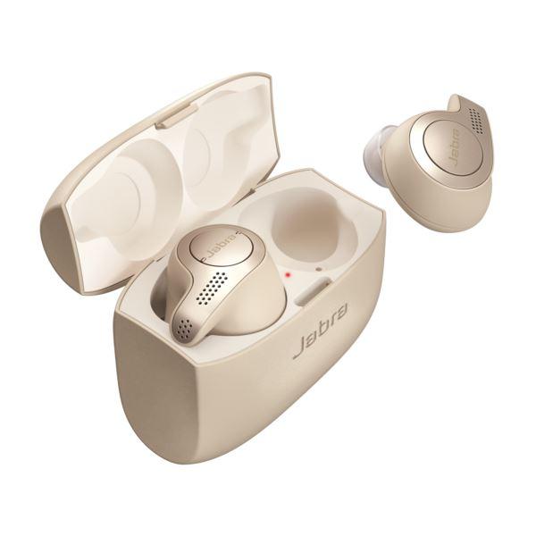 Jabra Elite 65T Alexa Enabled True Wireless Earbuds Charging Case-Gold Beige 100-99000001-02
