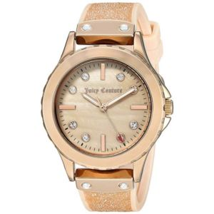 Women's Gold and Pink Strap Watch HSN-JC/1012RMLP