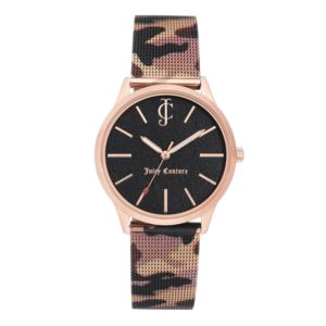 Women's Rose-Gold and Camo Strap Watch HSN-JC/1014RGCA