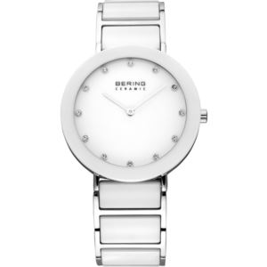 Women's Ceramic Polished Silver Watch 11435-754