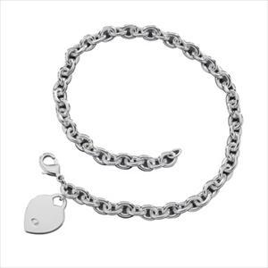 Silvertone Heart Charm Necklace GJ-85181042
