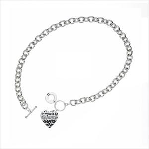 Graffiti Heart Necklace - Silver GJ-118362