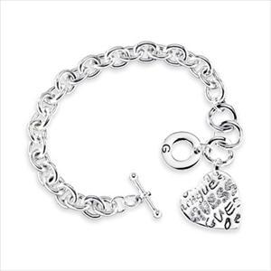 Heart Charm Bracelet - Silver GJ-118360