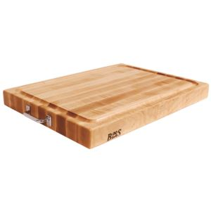 Maple Reversible Cutting Board with Groove and Chrome Handles, 24'' x 18'' x 2.25'' BOOS-RAFR2418