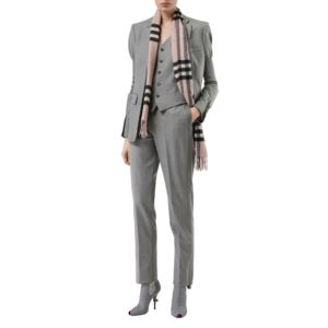 The Classic Ash Rose Check Cashmere Scarf 39941331