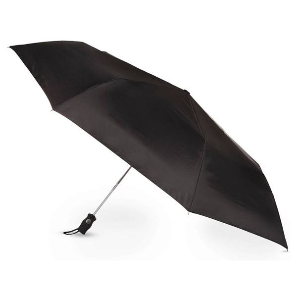 Golf Size Auto Open/Close Folding Umbrella - Black 7102-BLK