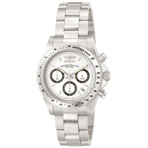 Men's Speedway Quartz Chronograph White Dial Watch INV-9211