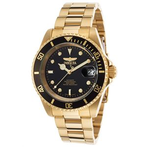 Men's Pro Diver Automatic 3 Hand Black Dial Watch INV-8929OB