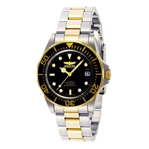 Men's Pro Diver Automatic 3 Hand Black Dial Watch INV-8927