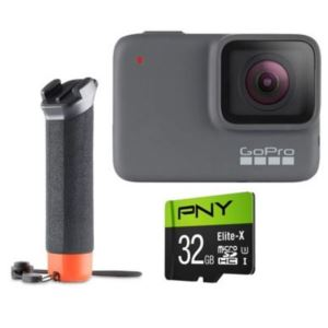 GoPro HERO7 Silver with Micro SD Card and The Handler CHDXX-706