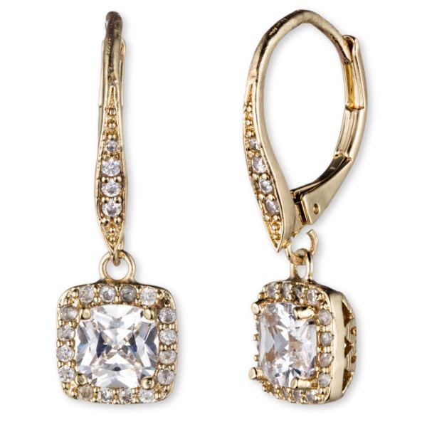 Gold-Tone CZ Drop Earrings 60377161-887