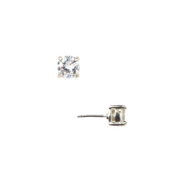 Silver-Tone CZ Stud Earrings 60156664-G03