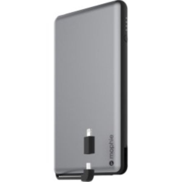 Universal external battery with integrated switch-tip cable (12000mAh) 3462_PSPLUS-12K-2N1-SGRY-BLK