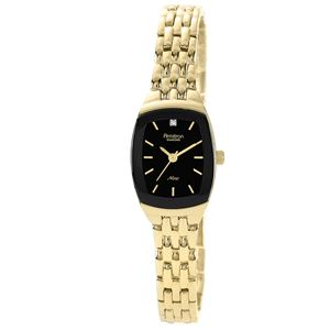 Women's Bracelet Watch with Diamond-Accented Dial 75-5195BKGP