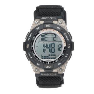 Men's Brown Digital Chronograph Black Nylon Strap 40-8330BLK