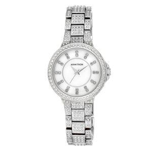 Women's Swarovski Crystal Accented Silver-Tone Bracelet Watch 75-5317MPSV