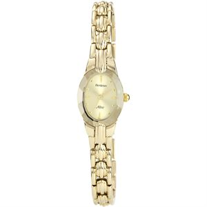Women's Oval Faceted Wall-to-Wall Crystal Gold-Tone Watch 75-3313CHGP