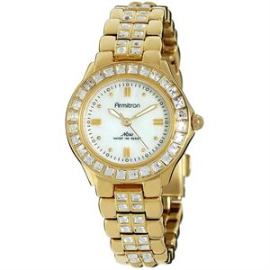 Women's Swarovski Crystal Accented Gold-Tone Watch 75-3689MPGP