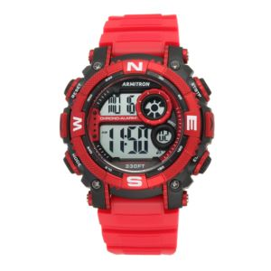 Men's Digital Chronograph Watch - Red/Black 40-8284RDBK