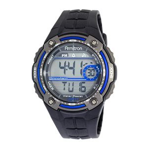 Men's Sport Watch with Black Rubber Band 40-8189BLU
