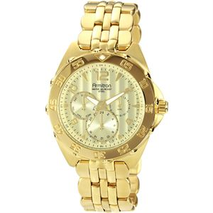 Men's Stainless Steel Gold Tone Watch 20-4664CHGP
