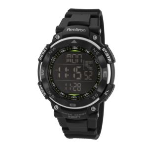 Men's Digital Chronograph Resin Strap Watch - Black 40-8254BLK