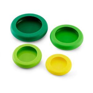 Food Huggers Reusable Silicone Food Savers - Set of 4 FB-5147711