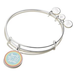 Wizard of Oz™ There's No Place Like Home Rainbow Bangle - Shiny Silver AS19EBWIZ01SS