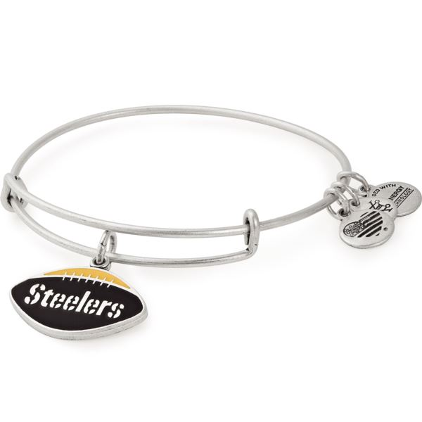 NFL Pittsburgh Steelers Football Charm Bangle - Rafaelian Silver AS18PS01RS