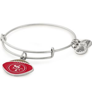 NFL San Francisco 49ers Football Charm Bangle - Rafaelian Silver AS18SF4901RS
