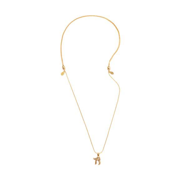 Chai Expandable Necklace - Rafaelian Gold Finish A18CHAI02RG