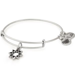 Eight Pointed Star Charm Bangle - Rafaelian Silver Finish A18HOL10RS