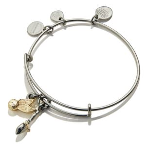 Harry Potter Quidditch Duo Bangle - Midnight Silver AS19HP62TTRTH