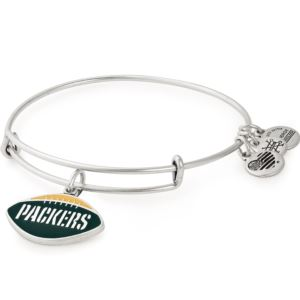 NFL Green Bay Packers Football Charm Bangle - Rafaelian Silver AS18GBP01RS
