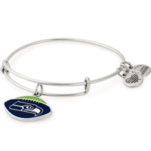 NFL Seattle Seahawks Football Charm Bangle - Rafaelian Silver AS18SS01RS