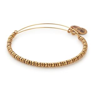 Rocker Beaded Bangle - Rafaelian Gold Finish A17EBROCRG