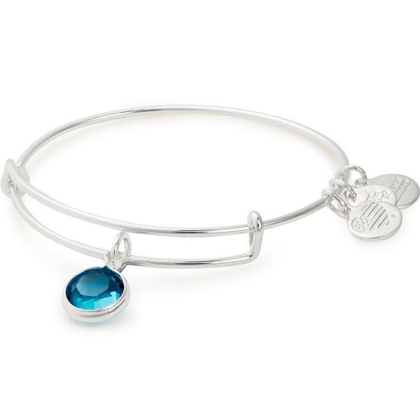 December Birthstone Bangle - Blue Zircon Crystal A19EB51SS