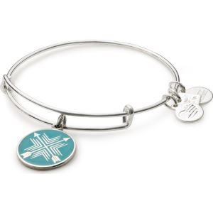 Arrows of Friendship Charm Bangle - Shiny Silver Finish CBD15AOFSS