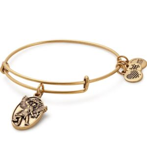 Archangel Michael Charm Bangle - Rafaelian Gold Finish A17EBAMRG