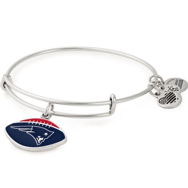 NFL New England Patriots Football Charm Bangle - Rafaelian Silver AS18NEP01RS