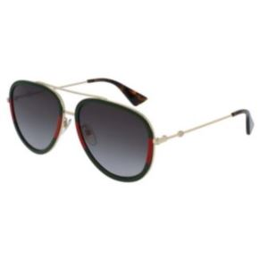 Aviator Sunglasses - Gold/Green GG0062S-003